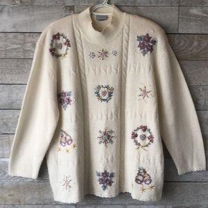 Gorgeous retro snowflake Grandma sweater